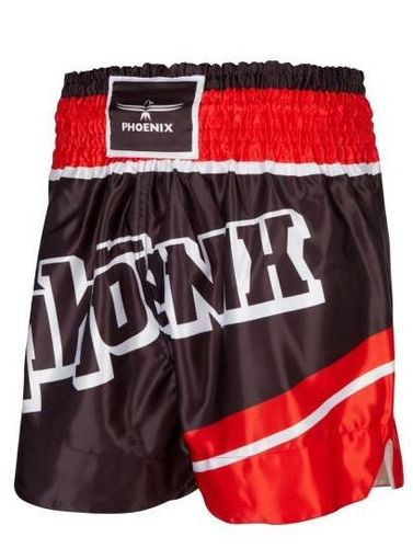 "PHOENIX Thai Shorts, ""FIGHTER"" schwarz-rot"
