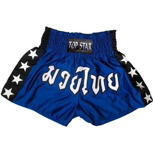 "Kick-Thai-Box Shorts blau-schwarz-weiß ""Thai"""