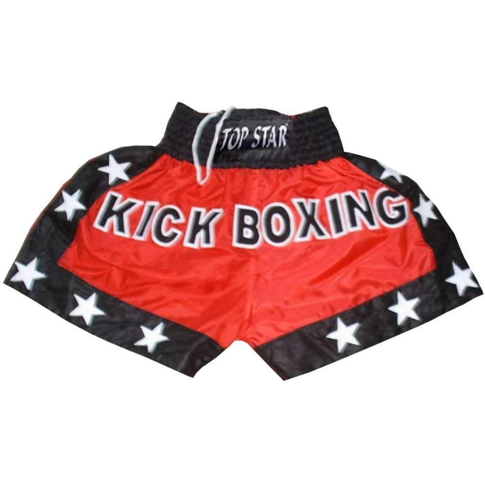 60556fb2347a1c Kick-Thai-Box Shorts rot-schwarz-weiß.