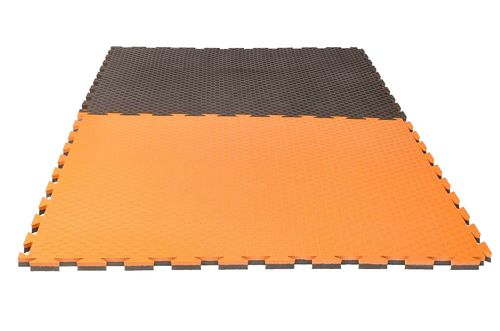 "Kampfsportmatten  Pro ""Checker"" 2 cm orange/grau  Wendematte"