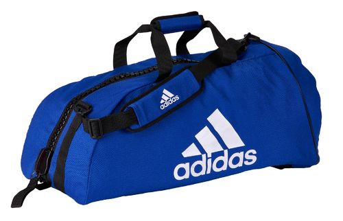 "adidas 2in1 Bag ""Judo"" blue/white cotton L, ADIACC040"